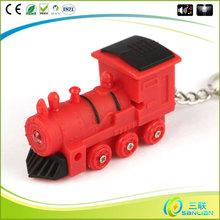high quality promotion fashion LED sound custom plastic key chain ring
