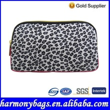 New style microfiber leopard printing cosmetic bag