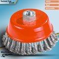 ツイスト鉄結ば鋼線カップブラシを洗浄するための、 研磨、 バリ取り