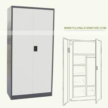 2 door stainless steel wardrobe for bedroom