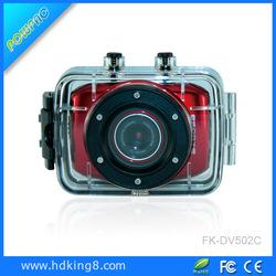 Rugged HD Digital Camcorder Waterproof sports cam review helmet 720p
