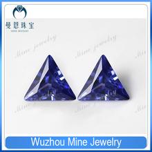 8*8mm purplish triangle CZ loose stone