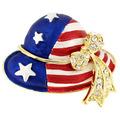 Custom, venda quente, metal original americano chapéu bandeira emblema de lapela pins