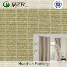 fire retardant 3 passes flocking woven jacquard blackout Environmental Protective Curtain roman blind Fabric
