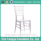 Resin Tiffany Chair /Silla Tiffany in Clear