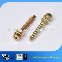 Sandwich belt interface cross flat round head flat tail tapping screws