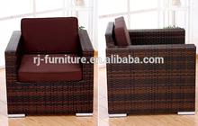 Poly rattan/cane/Imitate plastic wicker hand weave sofa/Outdoor patio metal anti-rust furniture