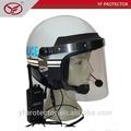 anti casco de antidisturbios para equipo militar de la guardia de la policía el uso