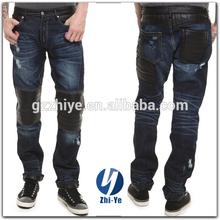Design de moda mais recente modelo calças de couro para homens