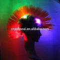 rainbow led sintético cabelo moicano perucas