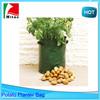 40L Green Potato Grow Bag Planter with Pockets,Round Garden Planter Bags