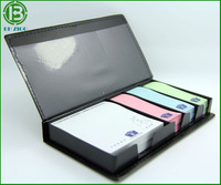 Promotional PU Leather Box with memo pad and sticky notes,PU/Leather box memo pad,PU cover memo pad