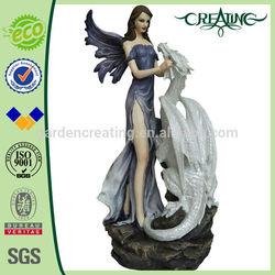 "19"" Dragon & Fairy Resin Garden Ornaments,Home Decoration Statue"