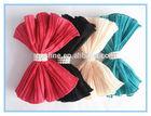fashion korean designs folded chiffon fabric bow,2014 latest hot hair bow for adults