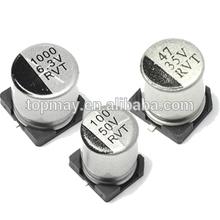 Standard 10uF 25V SMD Aluminum Electrolytic Capacitor