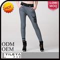 nuevo diseño de largo las mujeres pantalones harén con diamantes de imitación emborideried