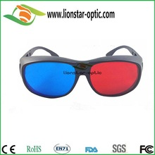 Classic Anaglyphic Plastic Red Cyan Thicken Lens 3D Glasses