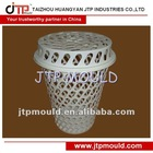 big capacity plastic laundry basket with cover mould