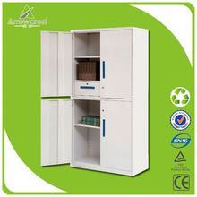 Mutiple function lockable metal inserts cabinet doors
