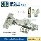 sus304 stainless steel hinge, self soft close hinge, cabinet door hinge
