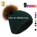 quente e novo estilo de chapéu da malha atacado colorido crochet gorro de lã e chapéu de senhora