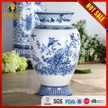 Elegant Fine New Bone China Peacock Flower Vase of Blue in China