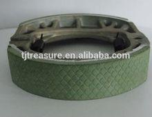 chinese names of motorcycle spare parts brake system brake shoe cg125 green