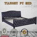 adultos juego de dormitorio muebles de metal marco de cuero de la pu cubre cama examen diseño hecho en china