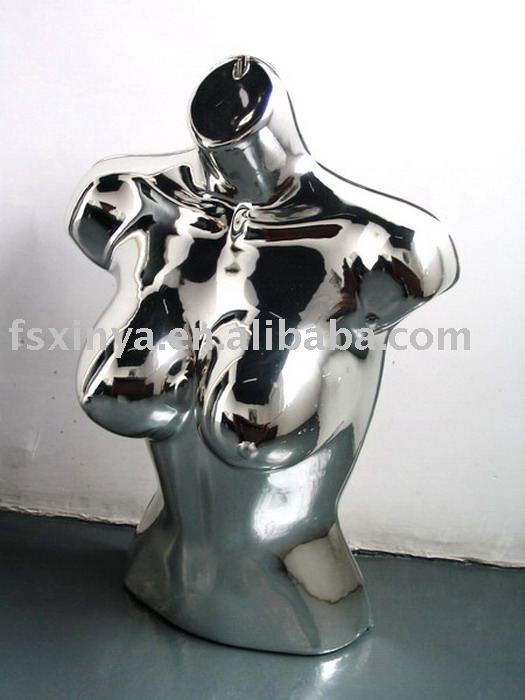 Cromo de mujer sexy de plástico colgando maniquí de/cuerpo de plástico forma( 812- 02- sexy- cromo)
