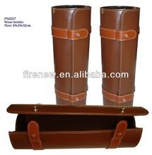 2014 leather wine bottle carrier for 1 bottle only