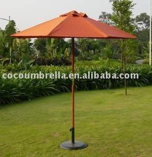 9' wooden outdoor umbrella