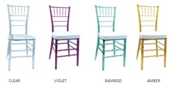 Factory Direct Screw-Free Elegant Transparent/Crystal/Clear/Arylic Tiffany /Chiavari Resin Chair for Party Wedding Rental