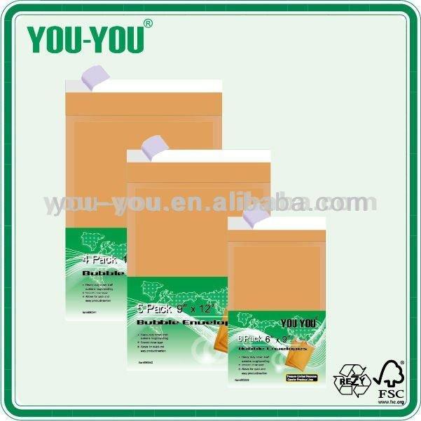 self-sealing brown mailing kraft paper envelopes