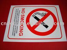 no smoking warning sign board
