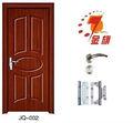 Pvc/mdf porta de madeira( jq- 002) para o projeto baratos porta do quarto interior