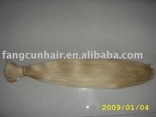 100% blond human hair bulk