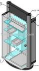 Acrylic rotating jewelry counter display(JHAH-004)