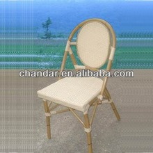 Bamboo like aluminum chair rattan furniture