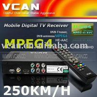 portable hd car digital dvb-t receiver 2 tuner mpeg4//DVB-2009HD