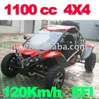 1100cc 4x4 All Terrain Buggy Quad karting/atv/go karting/petrol dune buggy