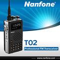 Nanfone t02 UHF/VHF dual-band-fm empfänger profi zweiwegradio