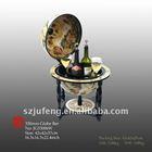 "13""/330mm Diam Tabletop Globe Bar Cabinet"