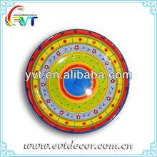 Colored Ceramic Decorative Plate