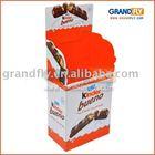 Floor Cardboard advertising display rack for kinder chocolate