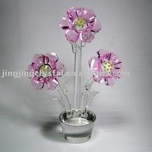 becutiful crystal flower glass flower wedding gifts