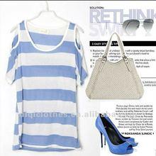 fashion 2012 off-shoulder women's t shirt