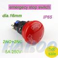 Hbd16-f1r1 16mm de setas de electrónica de parada de emergencia botón interruptor