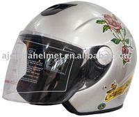ECE Approved Fiberglass Open Face Motorcycle Helmet BK 200