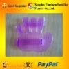 PVC massage glove/palm plastic handheld massager/pink hair shampoo scalp head massager brush