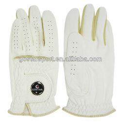 Man Cabretta Golf Glove With Ball Marker